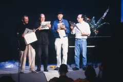 "George Brecht. ""Incidental Music"". Milano Poesia 1989. Performed by Ben Vautier, Geoffrey Hendricks, Al Hansen, Ken Friedman."