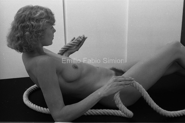 """George Brecht. Study for """"the lady of knots"""". Milano 1983"""