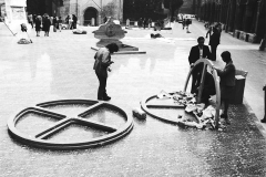 Pollution. Piazza Santo Stefano. Bologna, 1972