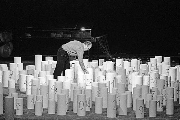 Walter Marchetti. De nada hacia nada. Teatro Carcano. Milano 1981